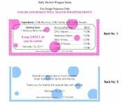 BAS-47CW - Baby Pink Elephant Candy Bar Wrapper