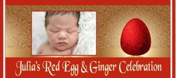 BAS - 53CW Red Egg and Ginger Party Candy Bar Favors