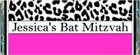 BAT-02CW Pink & Black Leopard Print Bat Mitzvah Candy Bars