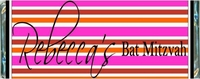 BAT-07CW Trendy Striped Bat Mitzvah Candy Wrappers