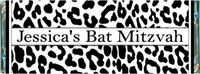 BAT-11CW Black & White Leopard Bat Mitzvah Wrappers