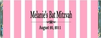 BAT-16CW Pink Stripe Bat Mitzvah Candy Bars