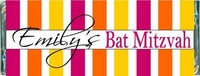BAT-17CW Colorful Striped Bat Mitzvah Candy Bar Favors