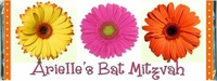 BAT-19CW Gerber Daisy Bat Mitzvah Candy Wrappers