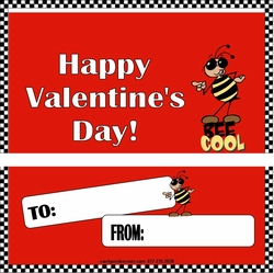 VAL06 - Bee Cool Valentine Candy Bar and Wrapper