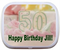 Birthday Cake Personalized Mint Tins