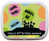 Birthday Limo Mint Tin Favors