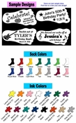 Personalized Birthday Sock Favors  (Case of 48 socks - $4.90 per pair) *NO SET UP FEE*