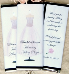 Bridal Gown Candy Bar Wrappers
