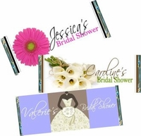 Bridal Shower Candy Bar Wrappers & Candy Bar Favors