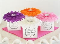 Bridal Shower Gerber Daisy Favor Boxes (set of 12)