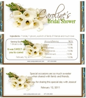 BS-04CW Calla Lily Bridal Shower Candy Wrappers