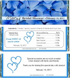 BS-05CW Hydrangea Bridal Shower Candy Wrapper