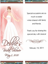 BS-09CW Blushing Bride Candy Bar Favors