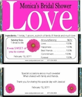 BS-10CW LOVE Bridal Shower Wrappers (8 colors avail.)