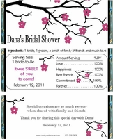 BS-19CW Cherry Blossom Bridal Shower Candy Wrappers