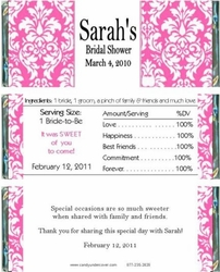 BS-22CW Pink Damask Bridal Shower Wrappers