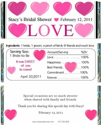 BS-26CW Spread the Love Bridal Shower Wrappers
