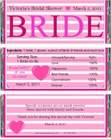 BS-28CW Pink Bride Candy Bar Wrappers