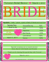 BS-29CW Green Bride Candy Bar Favors