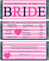 BS-30CW Navy & Pink Bride Candy Bar Favors
