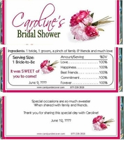 BS-31CW Peony Bridal Shower Candy Bars