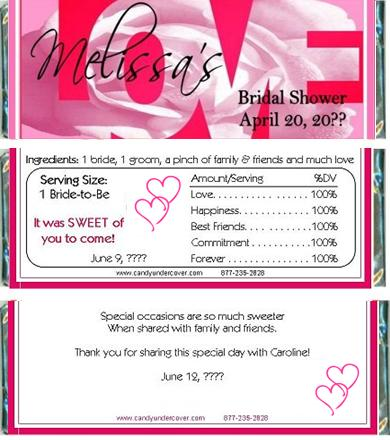bs 34cw love bridal shower candy bar wrappers