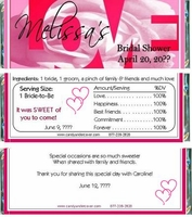BS-34CW LOVE Bridal Shower Candy Bar Wrappers
