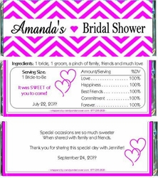 BS-38CW Chevron Striped Bridal Shower Candy Bars