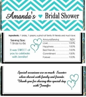 BS-39CW Chevron Striped Bridal Shower Candy Bars (Any Color)