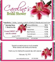 BS33-CW Stargazer Lily Bridal Shower Candy Wrapper