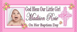 CH-008CW - Baby Girl Christening / Baptism Candy Bars