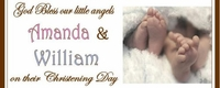 CH-013CW Twins Christening Candy Bars (can be 2 boys or 2 girls)