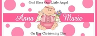CH-01CW Pink Angel Christening / Baptism Wrapper