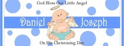 CH-05CW Baby Boy Angel Christening/Baptism Candy Bar Wrappers