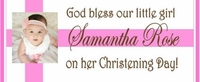 CH-23CW Girl Photo Christening / Baptism Candy Bar Favors