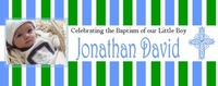 CH-13CW Blue & Green Striped Christening / Baptism Wrappers