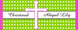 CH-15CW Sweet Dots Christening / Baptism Candy Bar Favors
