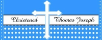 CH-16CW Boy's Polka Dot Baptism / Christening Candy Wrappers