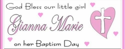 CH-19CW Pink Heart Cross Christening / Baptism Candy Bars