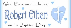 CH-20CW Blue Cross Christening / Baptism Wrapper