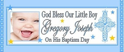 CH-007CW Baby Boy Baptism Candy Bar Wrappers