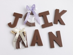 Chocolate Letter Favors