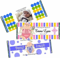 Christening / Baptism Candy Bar Favors and Wrappers