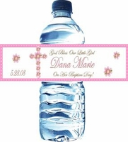 Christening / Baptism Water Bottle Labels