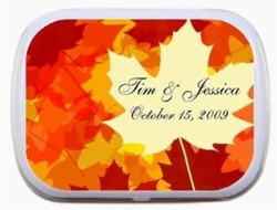 Colorful Leaves Personalized Mint Tin