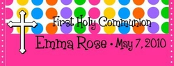 COM-08 Hot Pink Dot Communion Wrapper