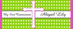 COM-22CW Green and White Dot Communion Wrapper