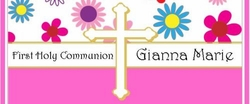 COM-0025CW Pink Floral First Communion Candy Wrappers