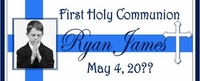 COM-027CW Blue Photo First Holy Communion Candy Bars
